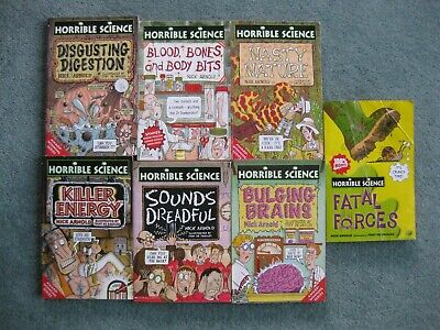 Bundle x 7 Nick Arnold Horrible Science paperbacks