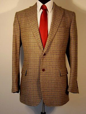 Brooks Brothers wool cashmere browns/black houndstooth sport coat, 43R, Italy