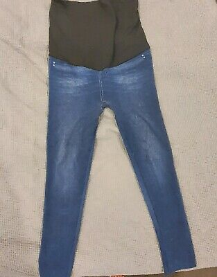 Maternity  Look Over Bump Skinny Jeggings Blue Sizes 10-12