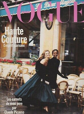 Cordula Reyer by Peter Lindbergh Vogue Magazine Naomi Campbell French