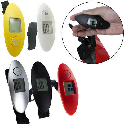 1 pc OvalShape Digital Luggage Scale Digital Travel Weigh Suitcases  Black