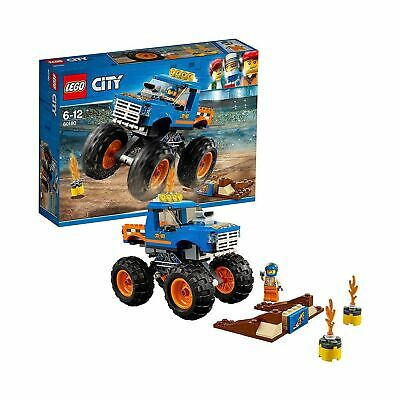 LEGO 60180 City Great Vehicles Monster Truck Toy with Driver and Stunt Show A...