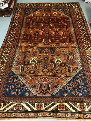 Antique Old Traditional Handmade Perssian Nomadic Qashqaii Carpet Rug 260X165 Cm