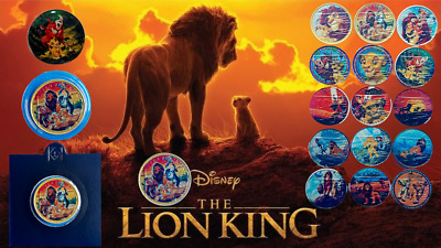 DISNEY THE LION KING 10p COIN MEDAL MEDALLION TEN PENCE UK A-Z