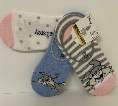 LADIES DISNEY THUMPER RABBIT BEDTIME BUNNY  SOCKS UK SIZE 4-8 EUR 37-42 US 6-10