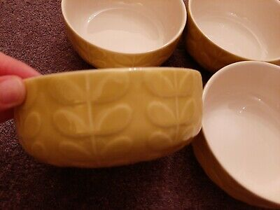 Orla Kiely green cereal bowls set of 4