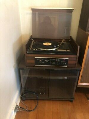 Vintage PIONEER turntable with MONARCH Stereo Amp System with cabinet & speakers