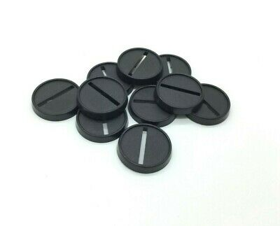 10x 25mm Lipped slotted round base warhammer 40k age of sigmar