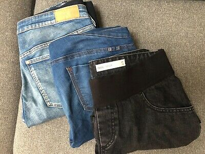 Maternity Jenas (and Jeans Shorts) Bundle - H&M, ASOS etc (Size 42/44, UK 12-14)