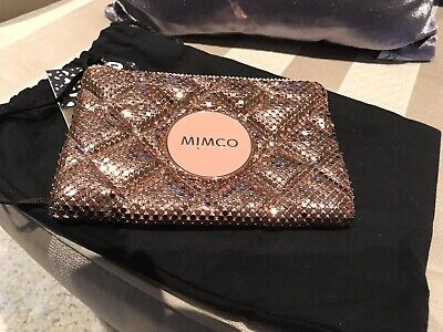 Mimco Rose Gold Mesh Purse NWOT