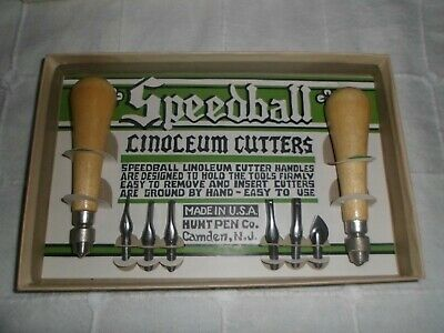 Vintage Speedball Linoleum Cutters Assortment No. 2  New In Box N.o.s.