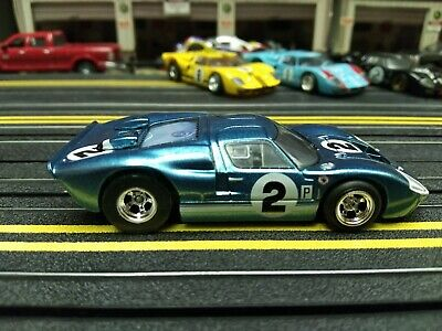 Tomy AFX Mega-G New Ford GT40 Blue Metallic #2 HO Scale Slot Car DISC G3 BSRT