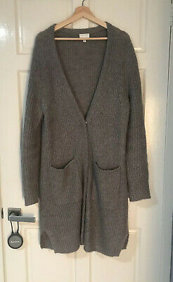 Witchery XL Grey Wool Blend Longline Cardigan Exc Condition