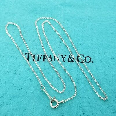 Tiffany & Co. Paloma Picasso 18' Inch Necklace Sterling Silver 1mm Link Chain