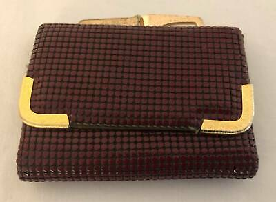 Vintage Ladies Burgandy Glomesh Wallet
