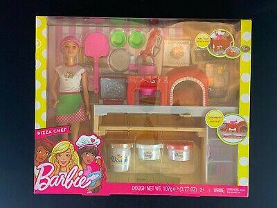 Mattel Barbie Pizza Chef Doll and Playset (FHR09), NEW