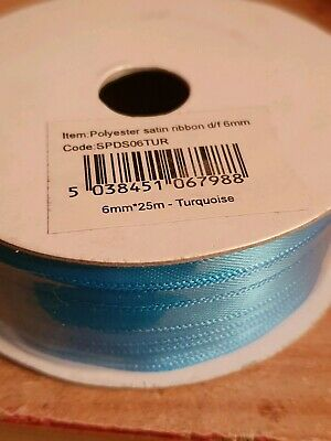 25m/50m Satin Ribbon Reels Double Sided Faced 6mm 10mm 15mm or 25mm Widths
