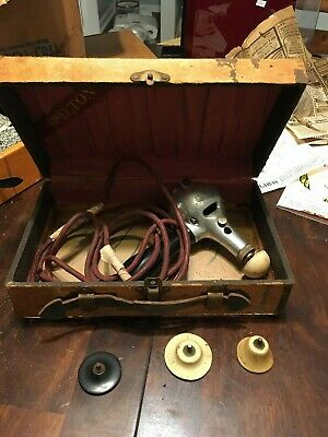 Working Antique Shelton Electric Massager Vibrator Dated 1917 Medicine Device