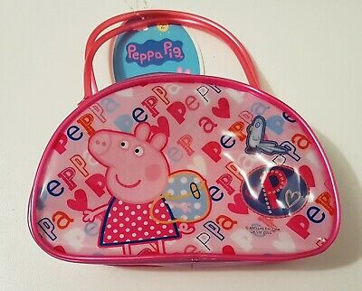 NEW PEPPA PIG Hand Bag With Hair Accessories Dress Up Pink  Free Post