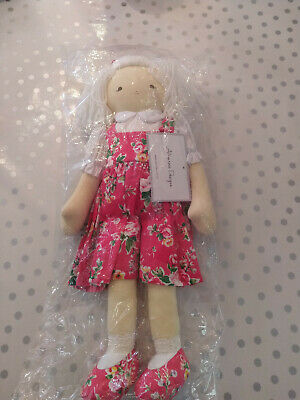 Alimrose designs cloth Imogen doll 45 cm in pretty pink floral dress