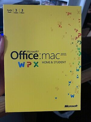 Microsoft Office for Mac Home and Student 2011 (3 Computer/s)
