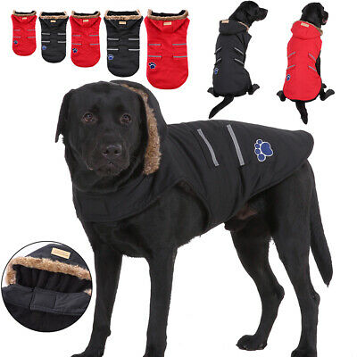 Dog Winter Thick Fleece Coat Pet Cold Weather Jacket Windproof For Large Dogs