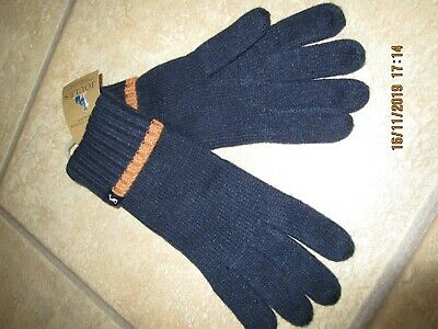 Ladies Womens Snowday Navy Knitted Gloves from Joules One Size - New RRP £19.95