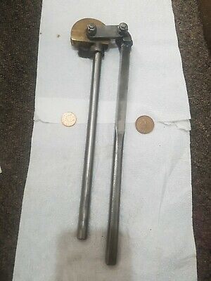 vintage brass pipe tubing bender collectable