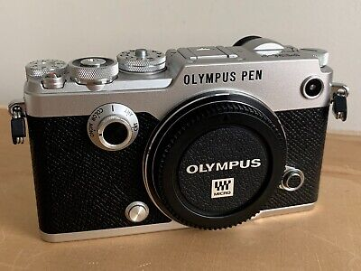 Olympus PEN-F 20.3 MP Digital Camera - Silver (Body Only) Like New Condition