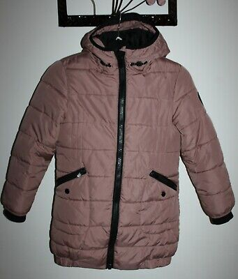 Next Girl Lilac Padded Zip Pockets Jacket Warm Coat Age 8 Years RRP £39.99