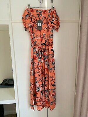 Oasis Midi Dress Size 16 Brand New With Tags Pink Floral Pattern