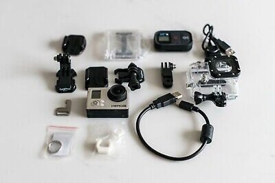 GoPro Hero3 Silver Edition Camcorder with accessories - Remote and case