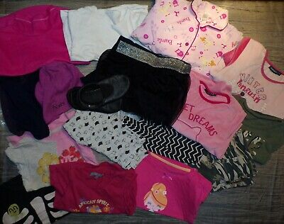 Lot 18 pcs pull, t-shirt, legging fille 5 ans C&A In Extenso H&M Domyos (187)