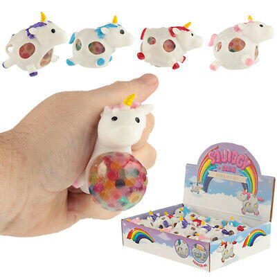 Fun Kids Unicorn Squeezy Mesh Ball Girls Boys BIRTHDAY CHRISTMAS PRESENT GIFT