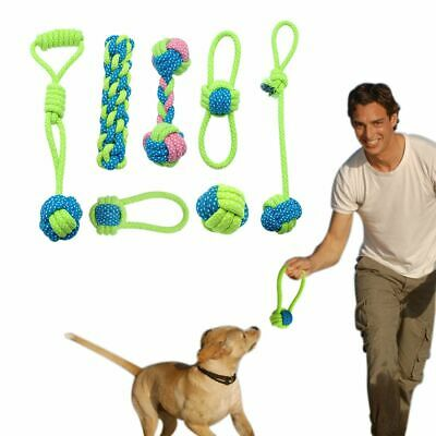 Cotton Rope Ball Dog Toy Knot Pet Chew Teething Toy Teeth Cleaning Palying Ball
