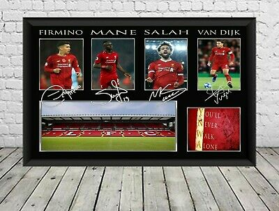 New Liverpool FC Signed Photo Print Poster Football Memorabilia