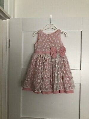 Matalan Baby Girls Beautiful Pink Occasion Party Dress Age 18-23 Months Xmas