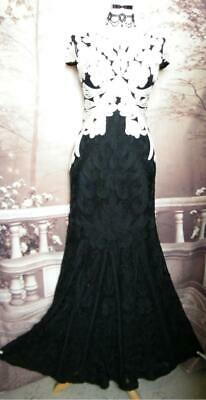 Phase Eight Ballgown/Dress 8 Collection Size 12 Allegra Tapework Beaded Sequins