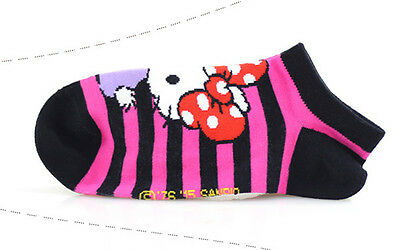 Girls Hello Kitty Cotton Trainer Liner Socks/fits age 9-11 year olds* Black