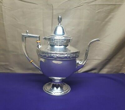 Beautiful Large Antique Sterling Silver Teapot By Frank M Whiting