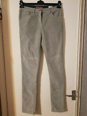 Grey velvet Johnnie b trousers by boden size 16 years