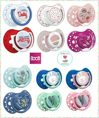 2 PCS NEW BABY  SOOTHER DYNAMIC PACIFIER DUMMY TEAT LOVI SAFE COLOURFUL