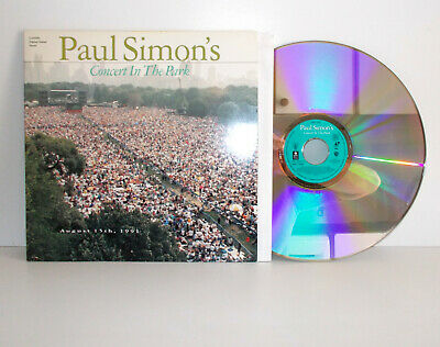 PAUL SIMON - Concert in the park - Laser Disc PAL - EX/EX
