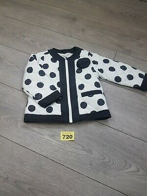 Girls Black And White Jacket From Matalan age 12-18 Months