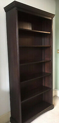 Marks And Spencer Tall mahogany bookcase 1990's Good Condition