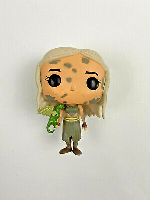 Funko Pop Game Of Thrones Daenerys Targaryen #3 Rare Vaulted Green Dragon No Box