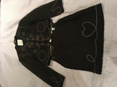 Women's Designer Suit,  jacket and skirt (Moschino) black with stitch design