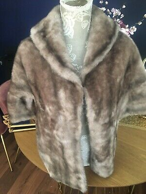 Faux Mink Fur Cape Stole Scarf Wartime Vintage WWII Style Look Peaky Blinder