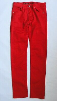 H&M Red Super Stretch Skinny Jeans/Trousers Adjustable Waistband Girls 12-13 Yrs