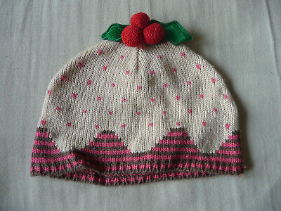 Accessorize knitted baby's Christmas pudding hat - one size - EXC